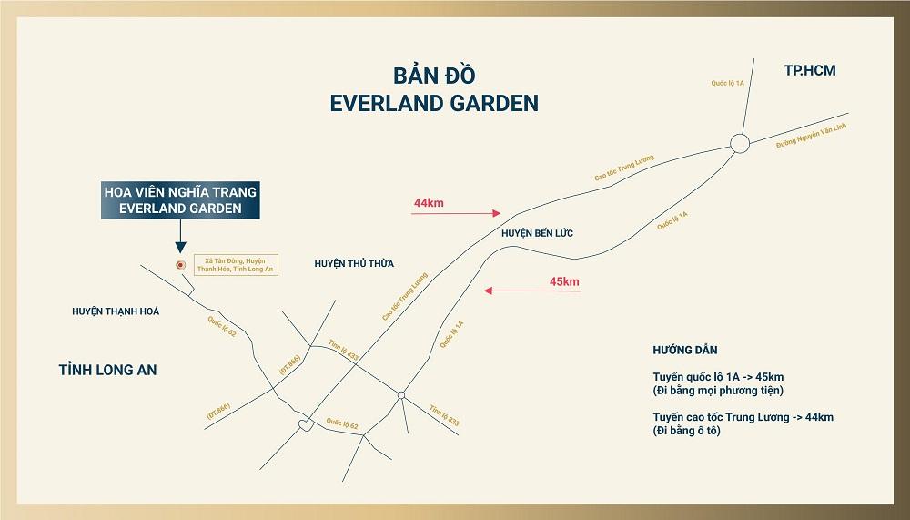 Bản đồ hoa viên nghĩa trang Everland Garden